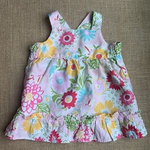 EUC linen Baby Gap cross back sun dress